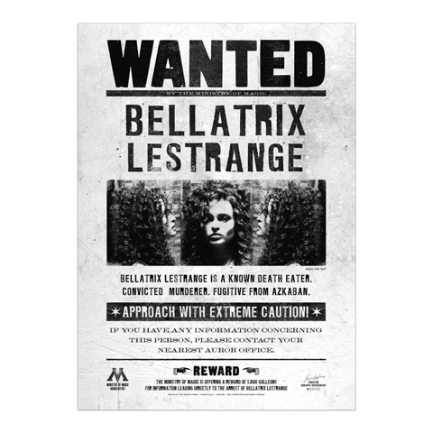 Poster - Wanted Bellatrix Lestrange