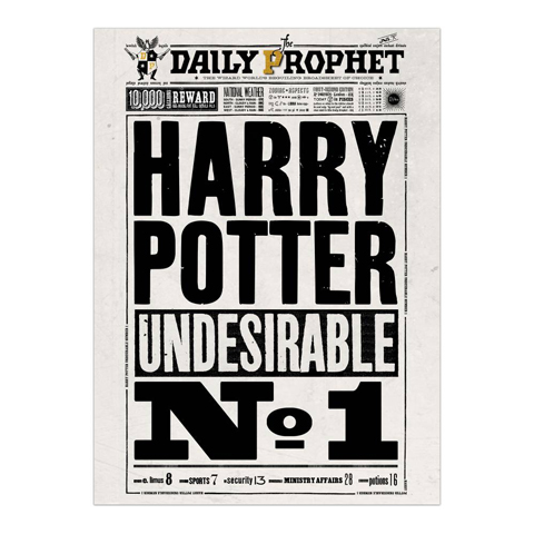 Poster - Daily Prophet Harry Potter Undesirable  No.1