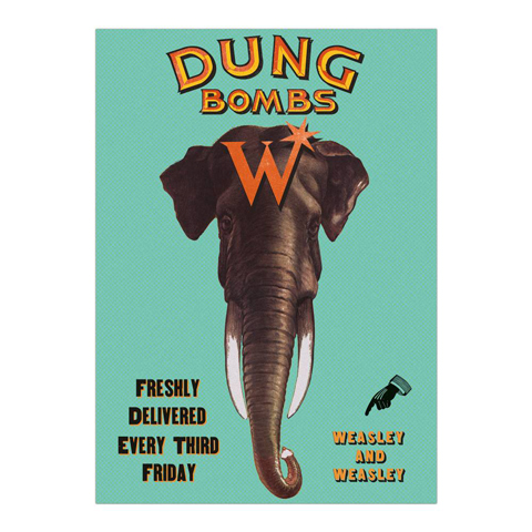 Poster - Dung Bombs from Weasley's Wizard Wheezes