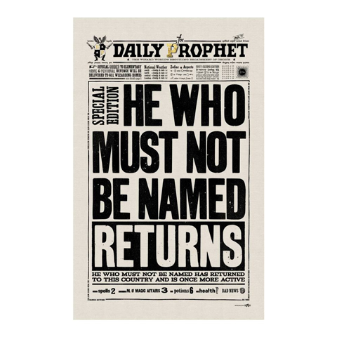 Torchon - The Daily Prophet - He Who Must Not Be Named Returns
