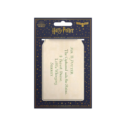 Porte-cartes - lettre d'acceptation à Poudlard
