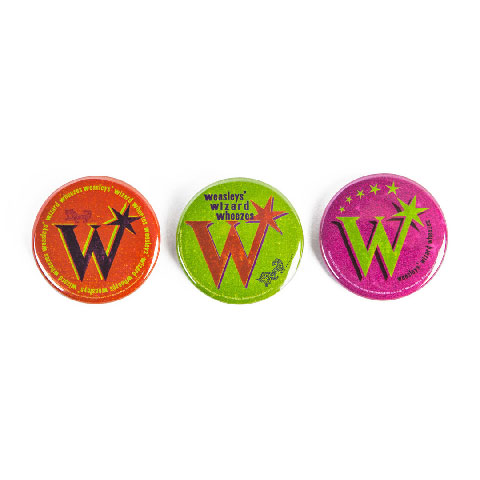 Lot de 3 badges Weasley