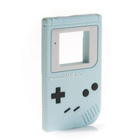 Anneau de dentition Geek - Console retro - bleue