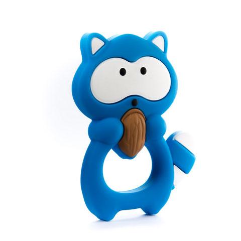 Anneau de dentition Geek - Raton laveur bleu