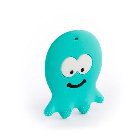 Anneau de dentition Geek - Poulpe turquoise