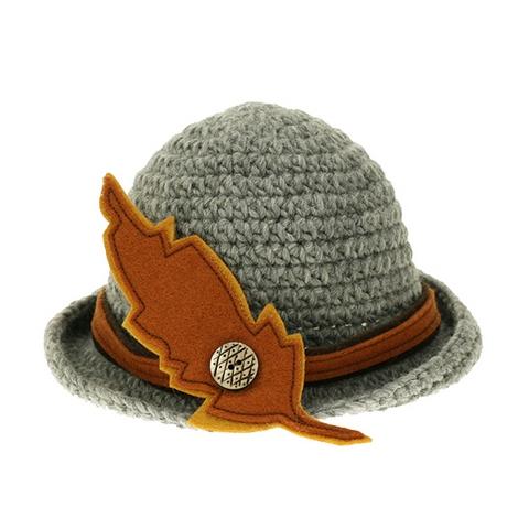 Chapeau Robin des Bois - laine tricotée et doublure polaire