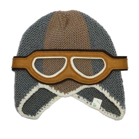 Bonnet Vespa - laine tricotée et doublure polaire