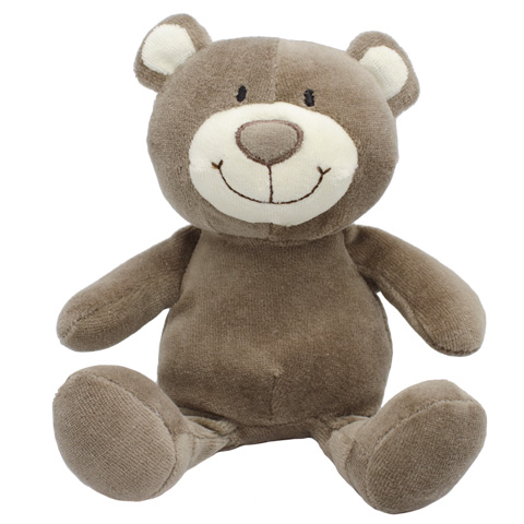 Peluche ours marron - 19 cm - Baby safe