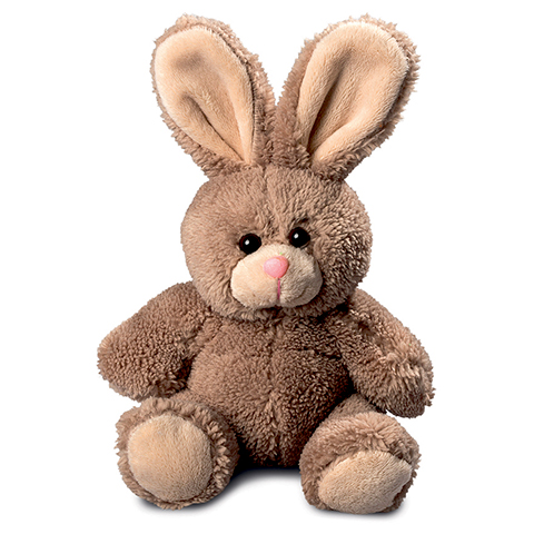 Peluche Petit lapin marron - 21 cm - Baby safe
