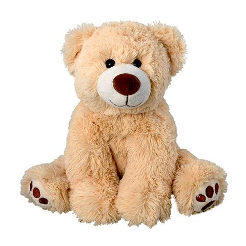 Peluche petit ours marron clair - 17 cm - Baby safe