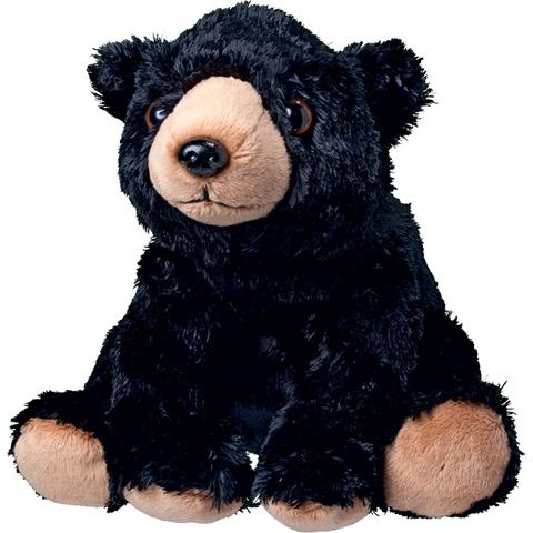 Peluche ours noir - 20 cm