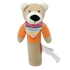 Hochet bébé ours - 16 cm