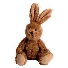 Peluche lapin articulé - 31 cm - Baby safe