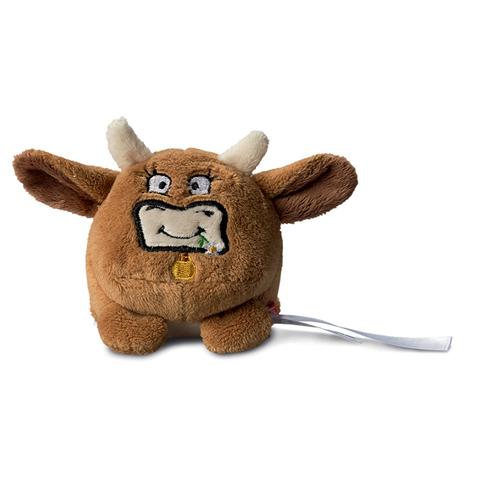 Peluche vache marron  - 7 cm - Essuie-écran
