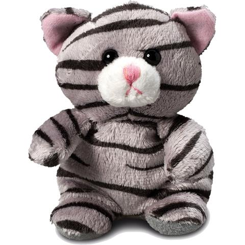 Peluche chat gris - 11 cm - Essuie-écran