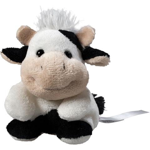 Peluche vache noire - 11 cm - Essuie-écran