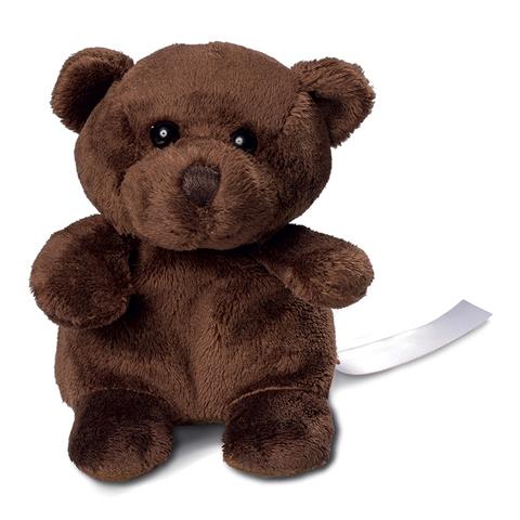 Peluche ours brun - 12 cm - Essuie-écran