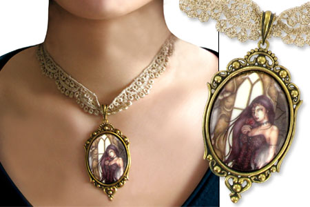 Jessica Galbreth - Renaissance Rose - collier