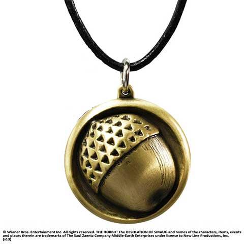 Bilbon Sacquet - Pendentif bouton de manchette cordon cuir - Hobbit