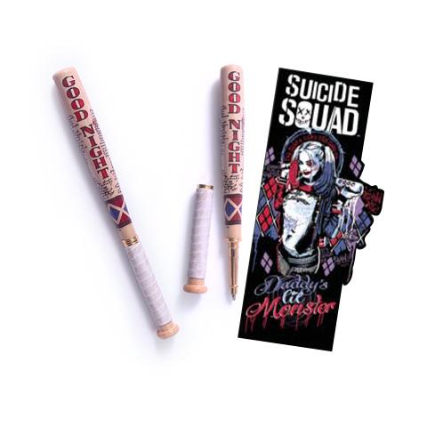 Harley Quinn - Stylo batte de Baseball et marque-pages - Suicide Squad - DC Comics