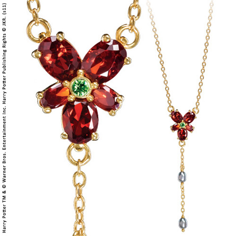 Collier Cristal Rouge d'Hermione