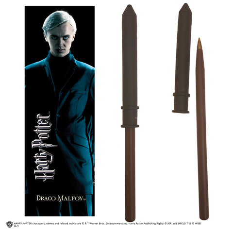 Stylo baguette & Marque-page Drago Malefoy