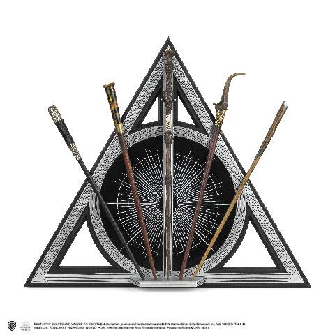 Présentoir 5 baguettes Reliques de la Mort - Les Crimes de Grindelwald - Animaux Fantastiques