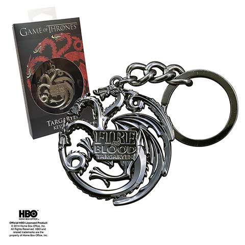 GOT - Targaryen porte-clés (gris-chrome)