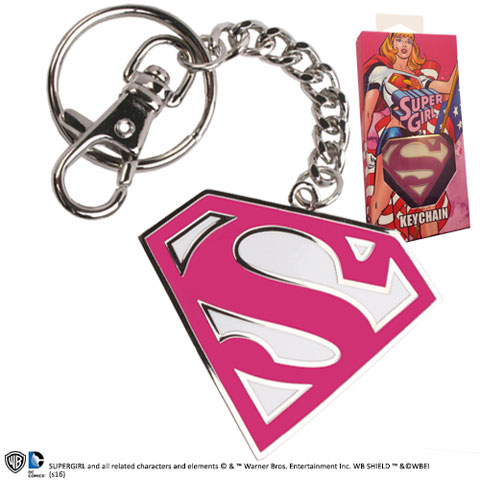 Porte-cles logo Supergirl rose