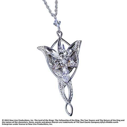 Arwen - Pendentif Étoile du Soir - Argent 925ème - Seigneur des Anneaux
