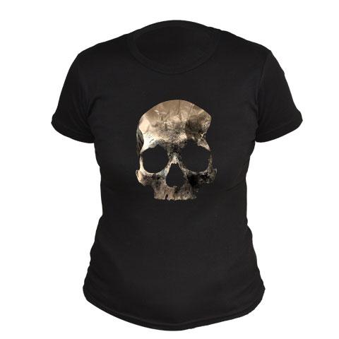 Crâne doré - T-shirt cintré