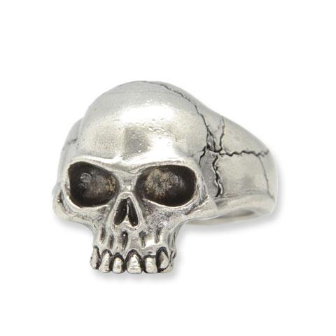 Captain Skull - chevalière étain finition argentée