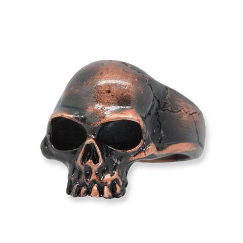 Captain Skull Chevalière étain finition noir/cuivre