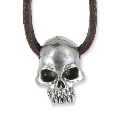 Captain Skull - pendentif étain finition argent