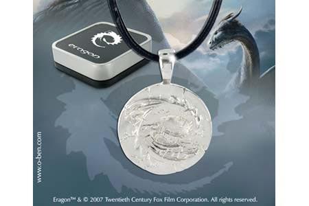 Eragon - pendentif Gedwey Ignasia pétrifié - argent 925ème