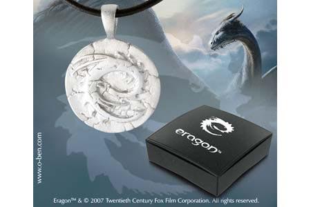 Eragon - pendentif Gedwey Ignasia pétrifié - Étain