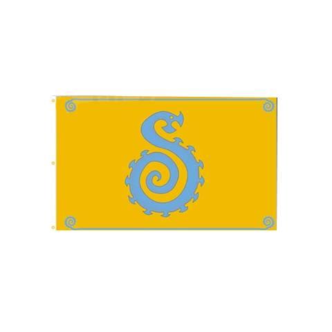 Lanfeust -  drapeau - Or Azur