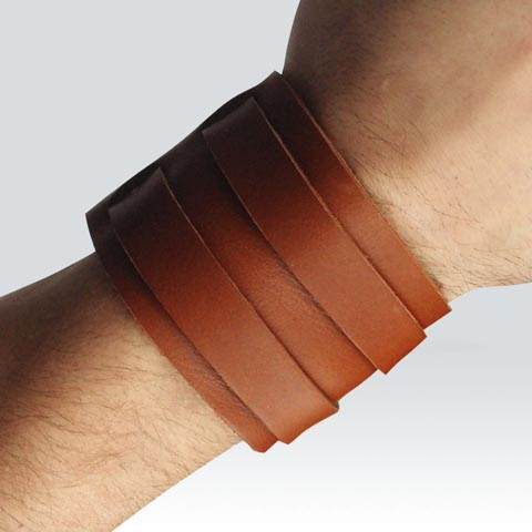 Bracelet de force - 2 lanières - clair
