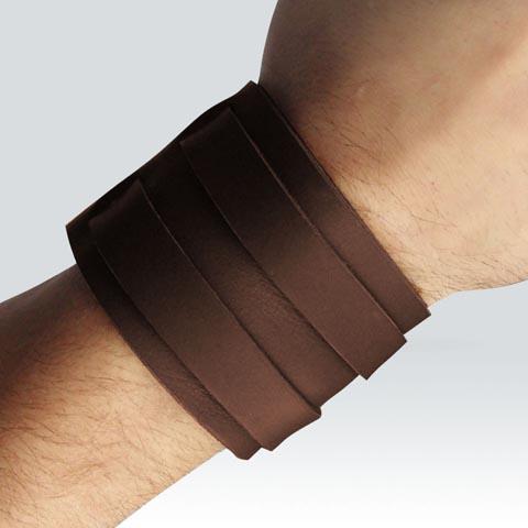 Bracelet de force - 2 lanières - foncé