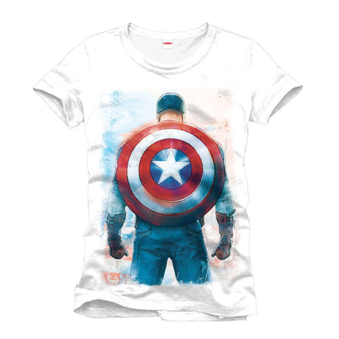 T-shirt Captain America Gear - Marvel