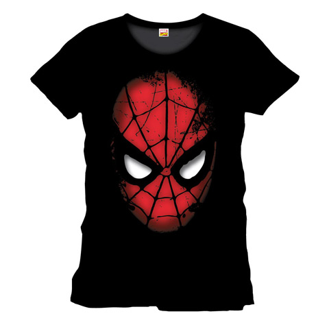 T-shirt visage Spiderman - Marvel