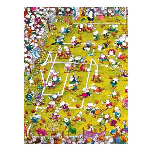 Puzzle - Crazy Football - Guillermo Mordillo - 1000 pièces