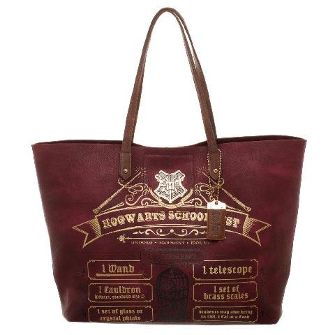 Cabas liste de fournitures pour Poudlard rouge - Harry Potter