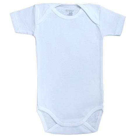 Body Bébé manches courtes - Coton - Bleu ciel