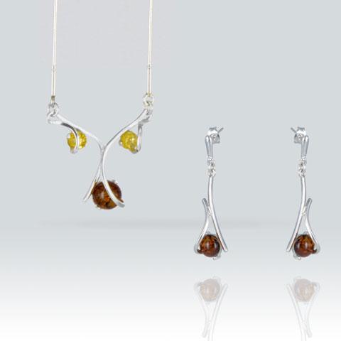 Ailys - Parure collier et boucles d'oreilles