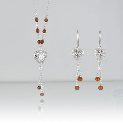 Violyn - Parure: collier et boucles d'oreilles
