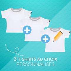Pack 3 T-shirts au choix