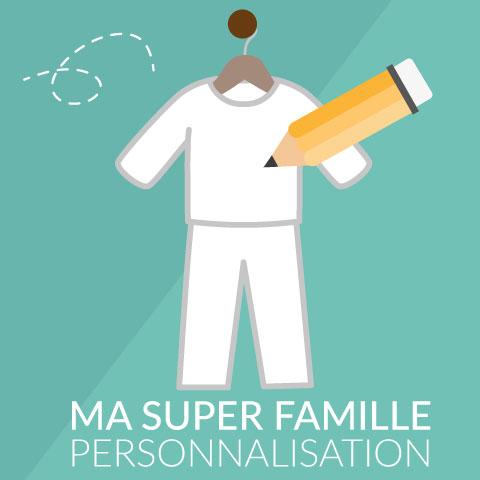 Je personnalise Ma Super Famille - Pyjama