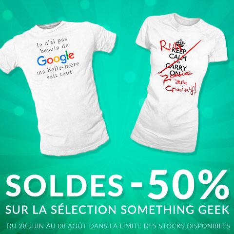 - 50% sur les t-shirts Something Geek