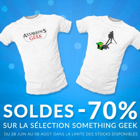 - 70% sur les t-shirts Something Geek